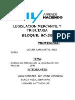 Analisis de Articulos de La Constitucion de 1993