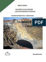 Procedimientos de Titulacion - Derecho Minero