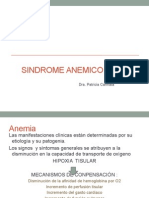 SINDROME ANEMICO 2015