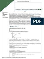 Solución Numérica de Ecuaciones Diferenciales