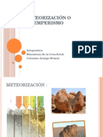 Meteorización o Intemperismo GEOLOGIA GENERAL