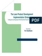 The Lean Prod Dev Implment Stra-FINAL-Part I-A 6-12-06