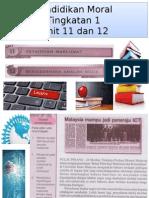 Pendidikan Moral Unit 11 Dan 12