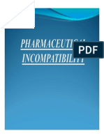 Pharmaceutical Incompatibility 1