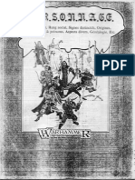 Warhammer 1 -FR- Personnage
