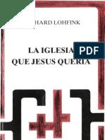 25441398 Lohfink Gerhard La Iglesia Que Jesus Queria
