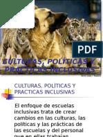 Culturas Politicas y Practicas Inclusivas