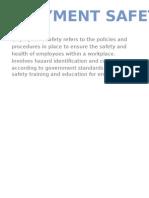 Employment safety