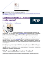 That Mysterious Contractor Markup and What It Includes is Exposed