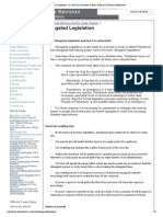 Delegated Legislation - A-Level Law Revision & Exam Help by D