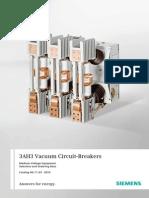Catalogue Vacuum Circuit Breakers 3ah3 En