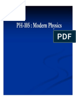 modern physics lecture 1