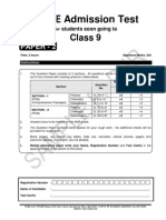 Admission Test - Class 9 - P2.pdf