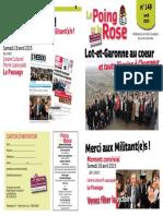 Le Poing Et La Rose Special n°149 - Avrril 2015