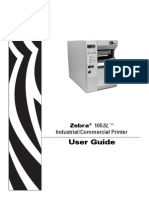 Zebra 105 printer xx