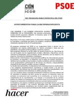 80 propuestas del programa marco municipal del PSOE (PDF)