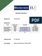 Pharma ProjectStrategic  marketing Management