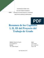 Resumen de los Capitulos I,II,III del Proyecto de Grado