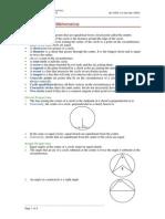 Circle Geometry Notes