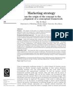 Marketing Strategy History