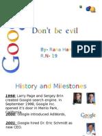 Google - timeline