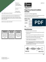 Installation Instructions O2 Sensor