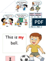 Possessive Pronouns Card