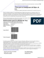 Instrucciones Visa