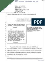 Bowker et al v. Regeneration Technologies, Inc et al - Document No. 15
