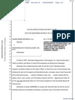 Bowker et al v. Regeneration Technologies, Inc et al - Document No. 16