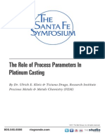 2010 the Role of Process Parameters in Platinum Casting