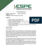 Informe de Práticas en El Curso Andrés Moreno