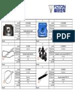 Manual de partes Foton