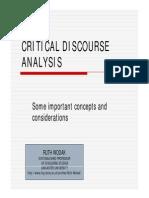 Critical Discourse Analysis - Ruth Wodak