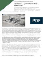 A3_POSCO E&C_AES Gener's Angamos Power Plant Earns POWER's Highest Honor