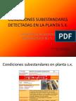 Condiciones Subestandar Detectadas en La Planta s