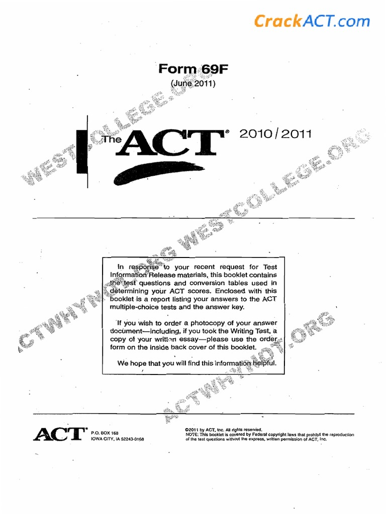 Act 201106 Form 69f Over 40 real act tests can be downloaded free of charge. act 201106 form 69f