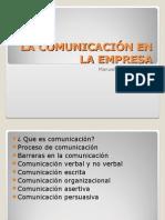 LA COMUNICACIÓN EN LA EMPRESA. Manuel Escalona.ppt