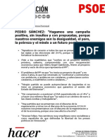 Transcripción de la intervención de Pedro Sánchez en la clausura de la Conferencia Municipal del PSOE (PDF)