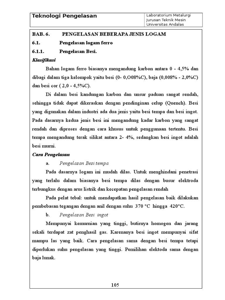 BAB 6 Pengelasan Pada Beberapa Jenis Logam d5c4c56411