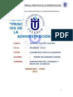 Monografia Principios de La Adminisración - Adm Gral
