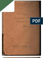 1916- Marion Hix's High School Graduation Book