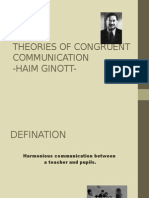 Theories of Congruent Communication