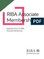 2015 RIBA Associate Membership Application Form