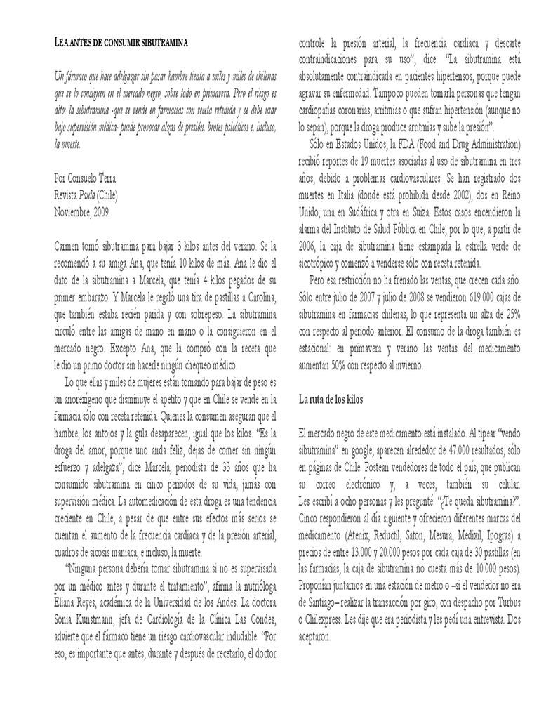 Pastillas para adelgazar sibutramina en argentina