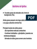 Aula Metabolismo de Lipideos 2013.1