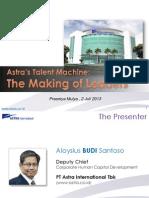 A. Budi Santoso-Astra Leadership - Prasetya Mulya 020713