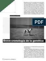 Breve Cronología de La Genética - González Astorga