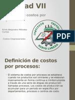Unidad VII Sistema de costos por procesos