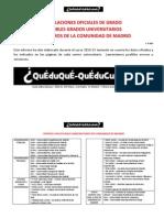 Listados de Estudios y Universidades Madrid 2015 - A. Del Mazo